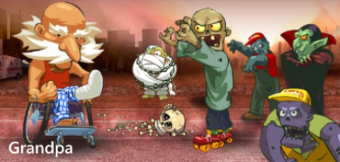 "Our app ""Grandpa and the Zombies"" now available for Windows Phone"